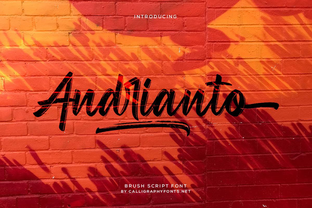 Andrianto Brush Script Font -1
