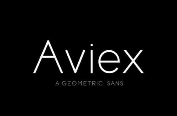 Aviex Font