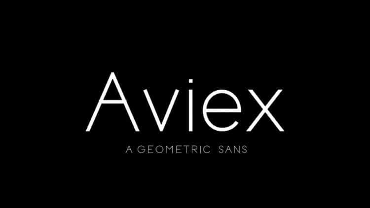 Aviex Sans Serif Font -1