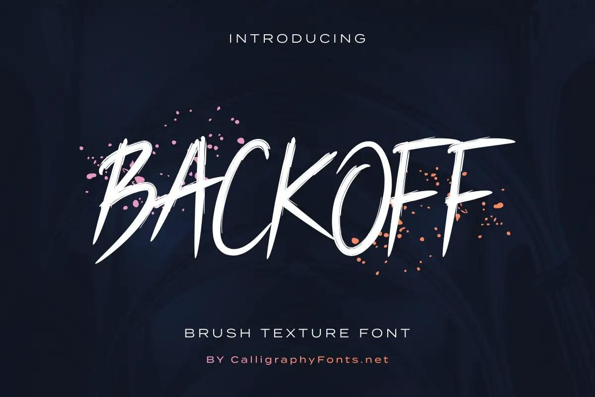 Backoff brush Script Font -1