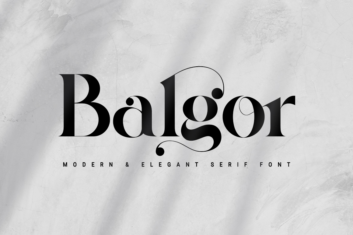 Balgor Modern Elegant Serif Font -1