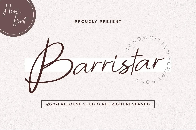 Barristar Script Handwritten Font -1