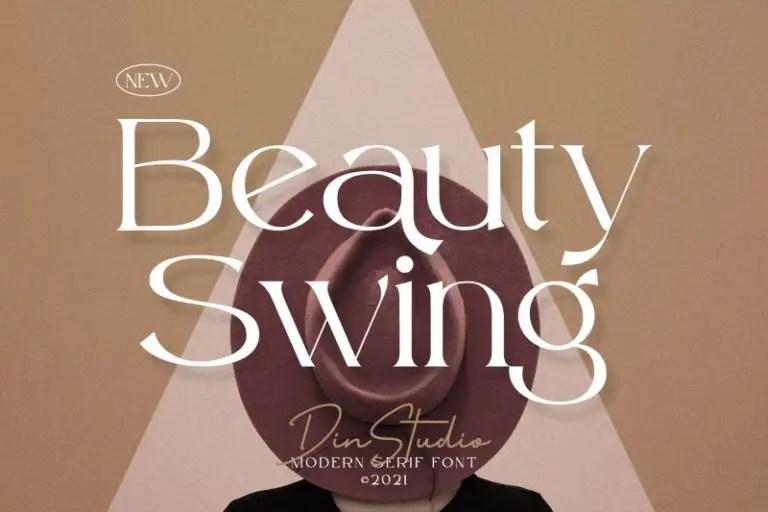 Beauty Swing Modern Serif Font -1