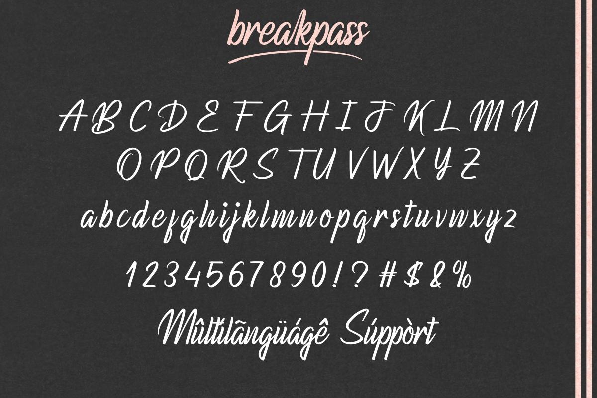 Breakpass Script Brush Font -3
