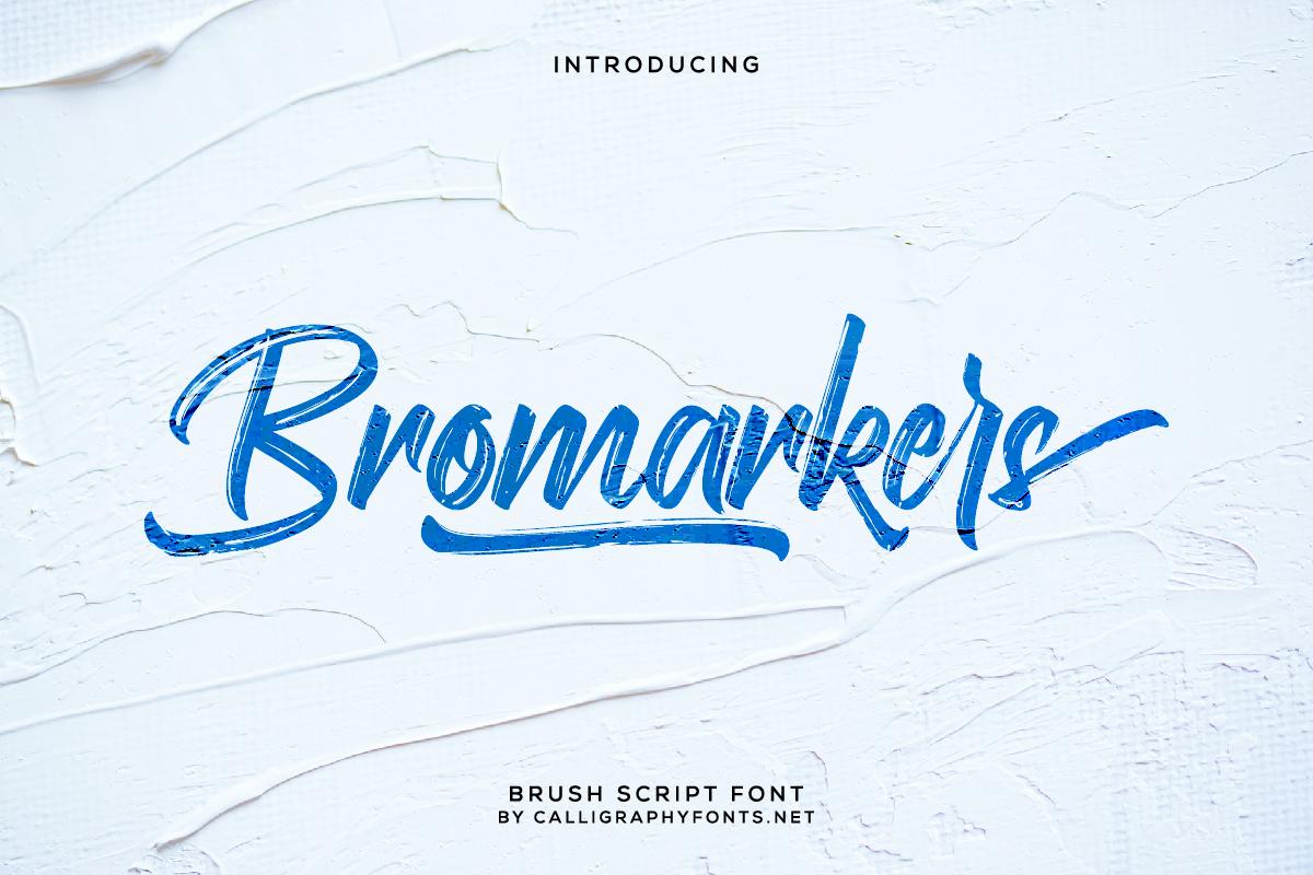 Bromarkers Brush Script Font -1