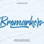 Bromarkers Font