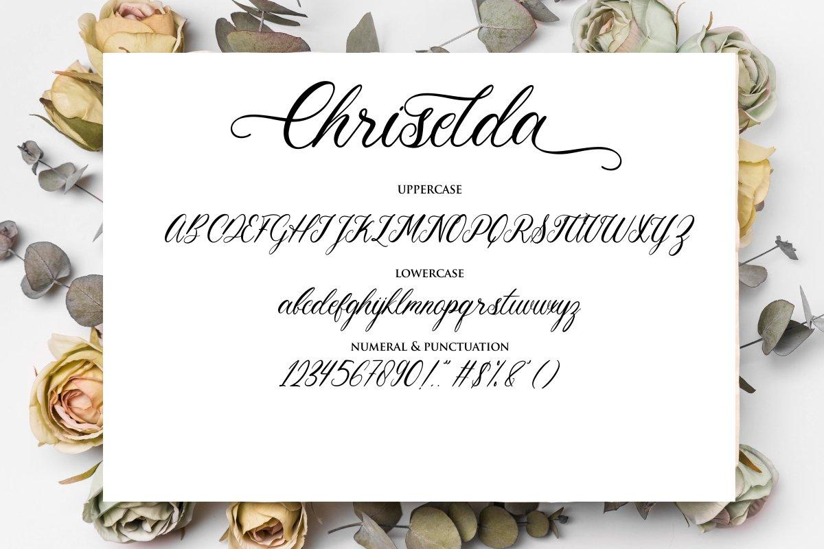 Chriselda Script Calligraphy Font -3