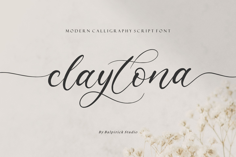 Claytona Modern Calligraphy Font -1