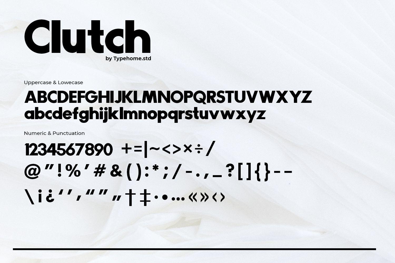 Clutch Sans Serif Font -3