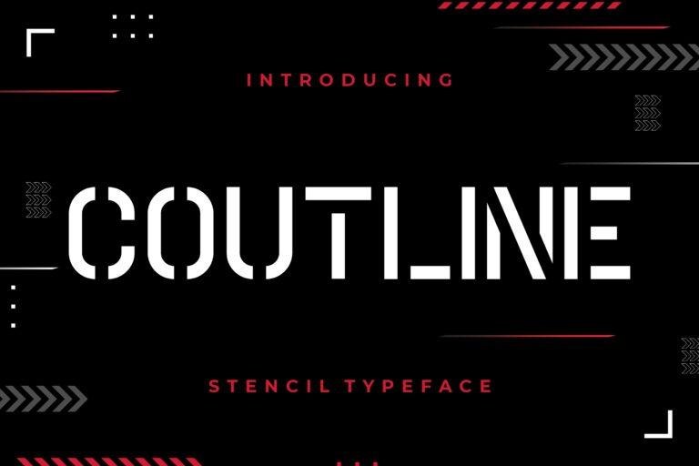 Coutline Sans Serif Font -1