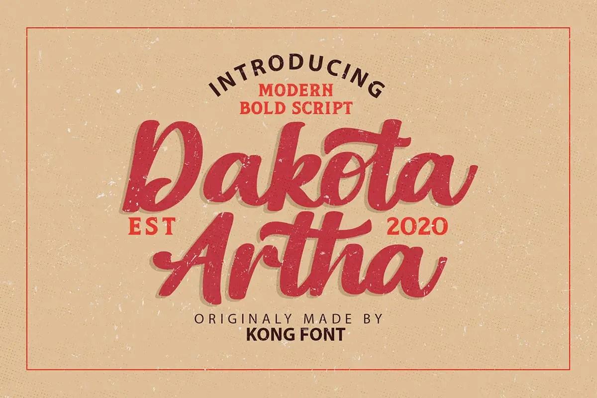 Dakota Artha Bold Script Font -1