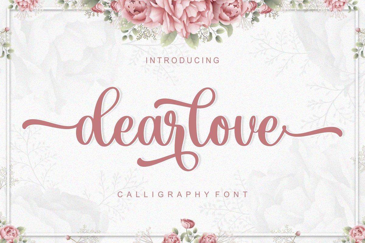 Dearlove Calligraphy Font -1