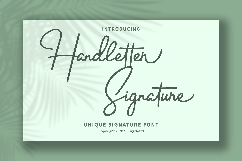 Handletter Signature Script Font -1
