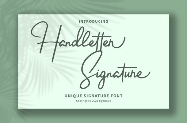 Handletter Signature Font