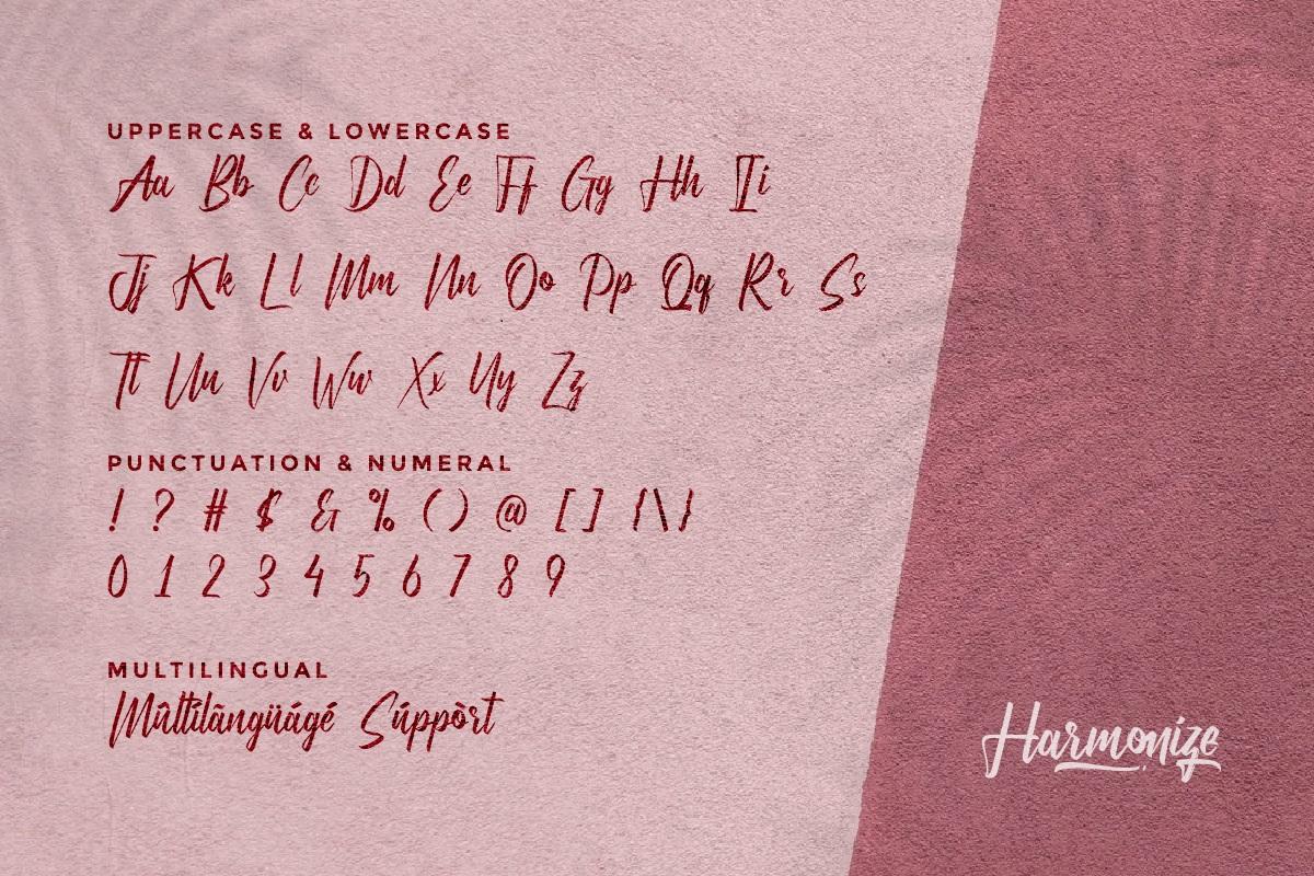 Harmonize Brush Script Font -3