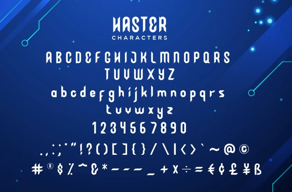 Haster Display Font -3