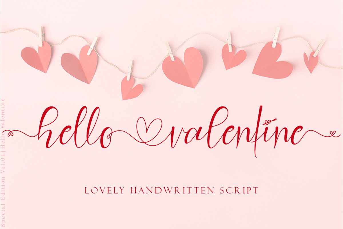 Hello Valentine Calligraphy Font -1