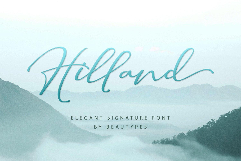 Hilland Authentic Signature Font -1