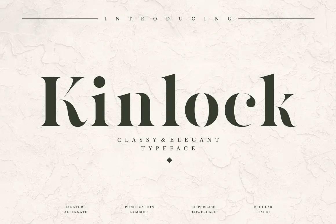 Kinlock Elegant Stencil Serif Font -1
