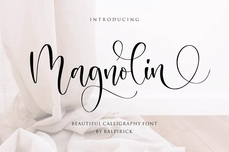Magnolin Beautiful Calligraphy Font -1