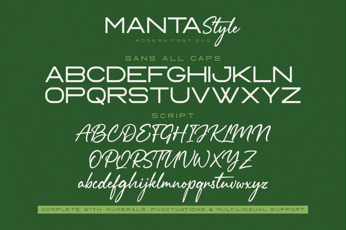 Manta Style Modern Font Duo -3