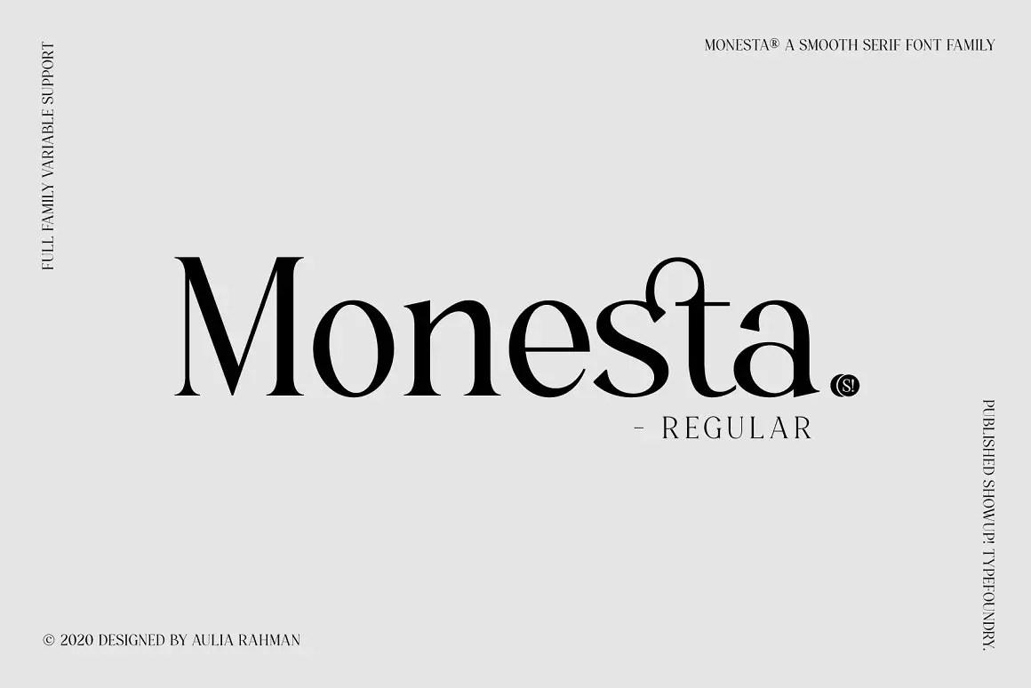 Monesta Serif Font -1