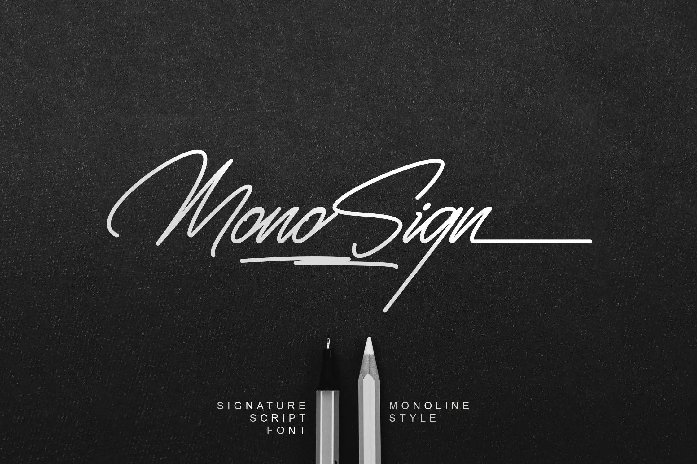 Monosign Beautiful Signature Font -1