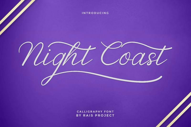 Nightcoast Beautiful Calligraphy Font -1