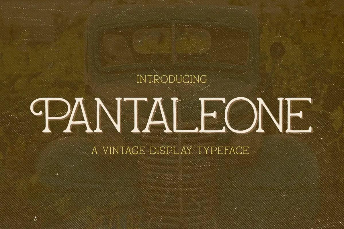 Pantaleone Vintage Typeface -1
