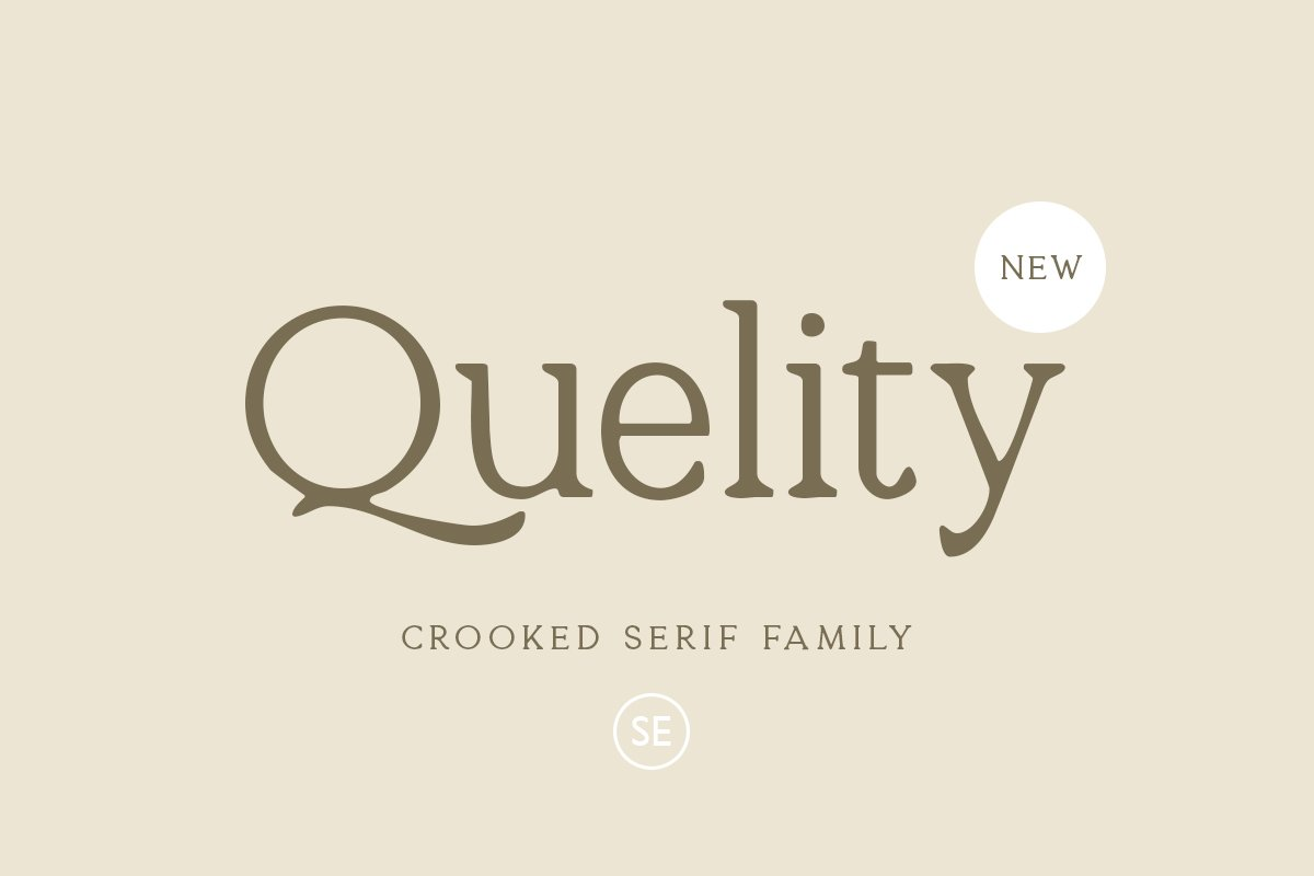 Quelity Crooked Serif Font -1