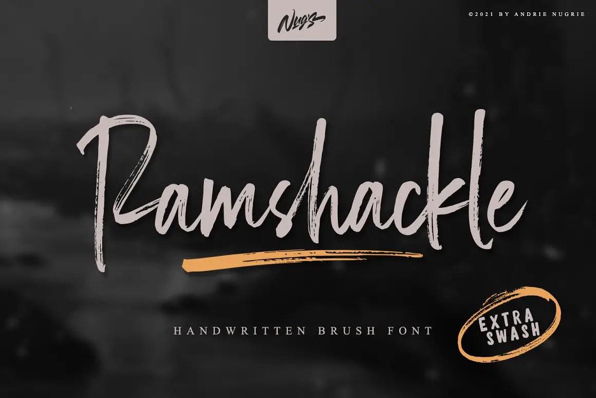 Ramshackle Modern Brush Font -1