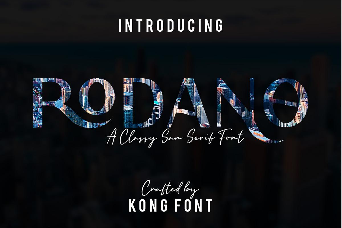 Rodano Sans Serif Font -1
