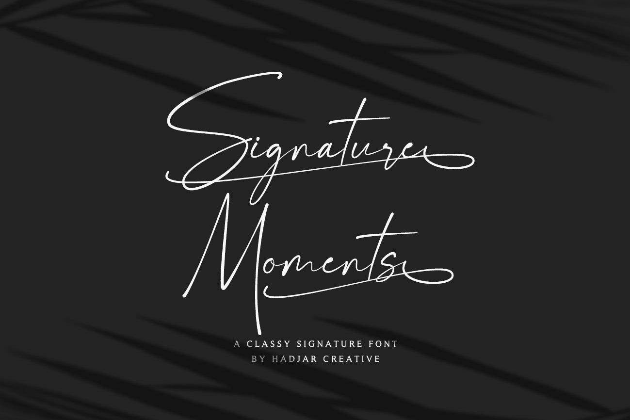 Signature Moments Signature Font -1