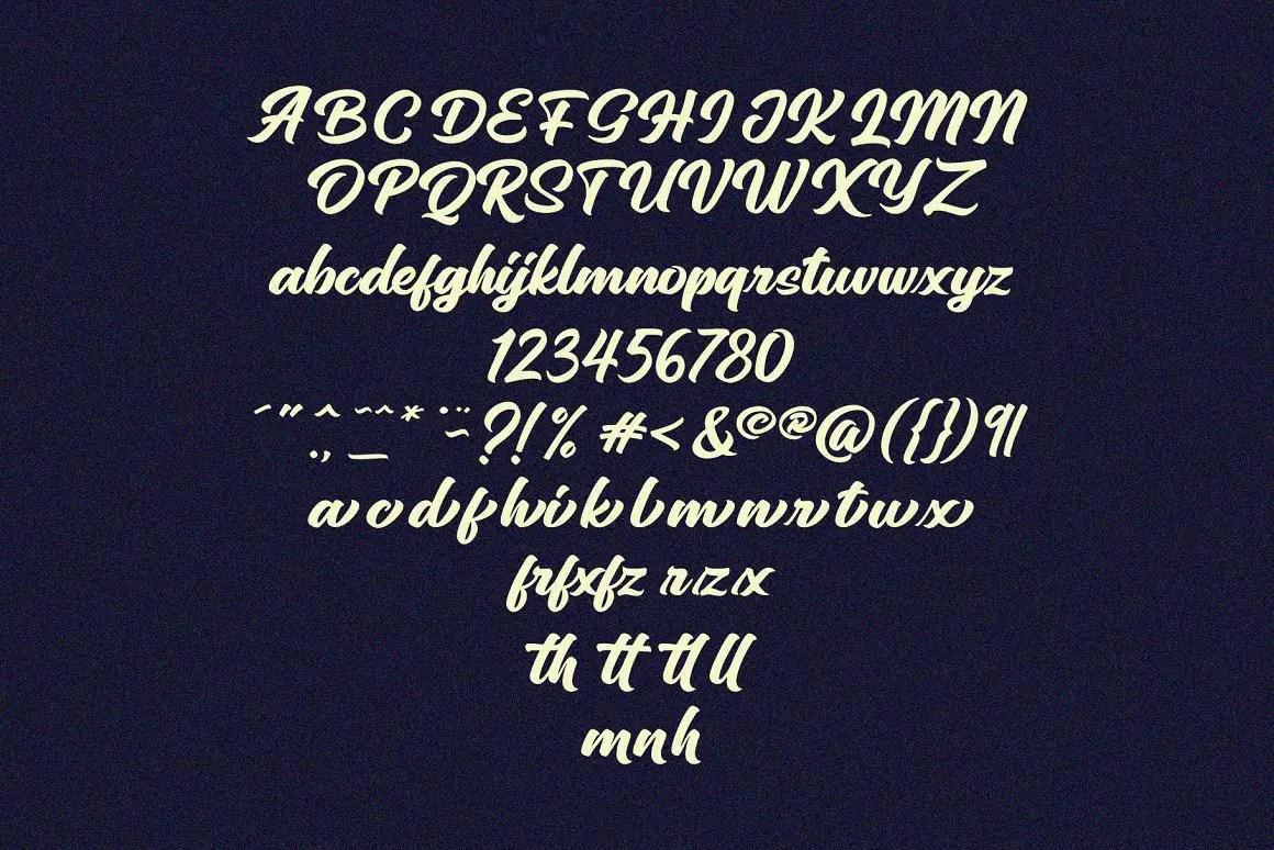 Sinethar Bold Script Font -3
