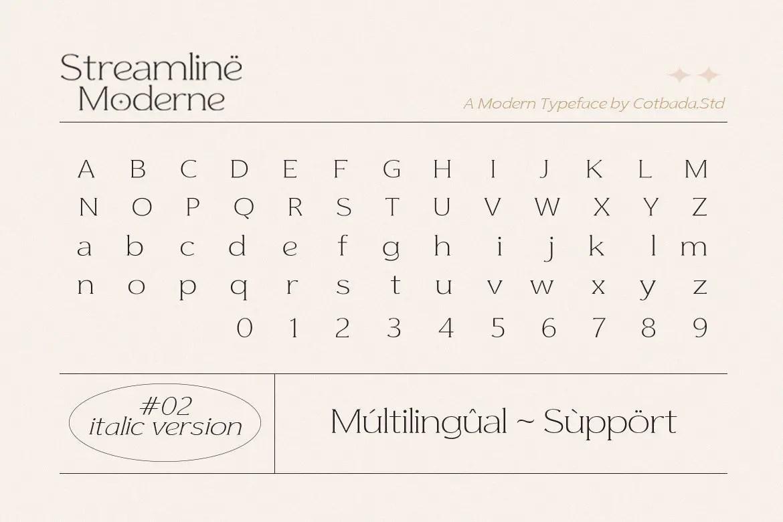 Streamline Moderne Serif Font -3