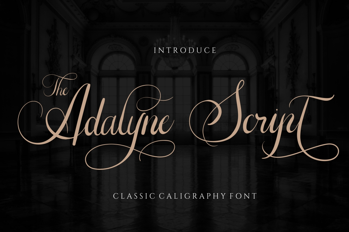 The Adelyne Calligraphy Font -1