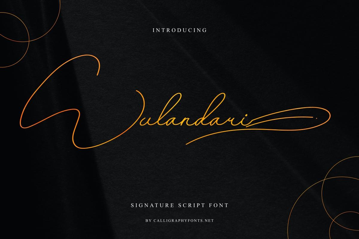 Wulandarisignature script Font -1