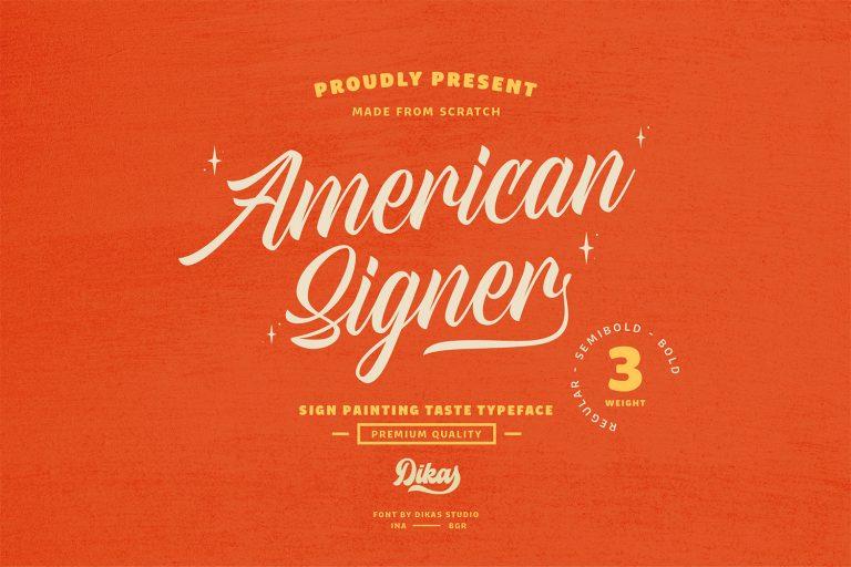 American Signer Script Font -1