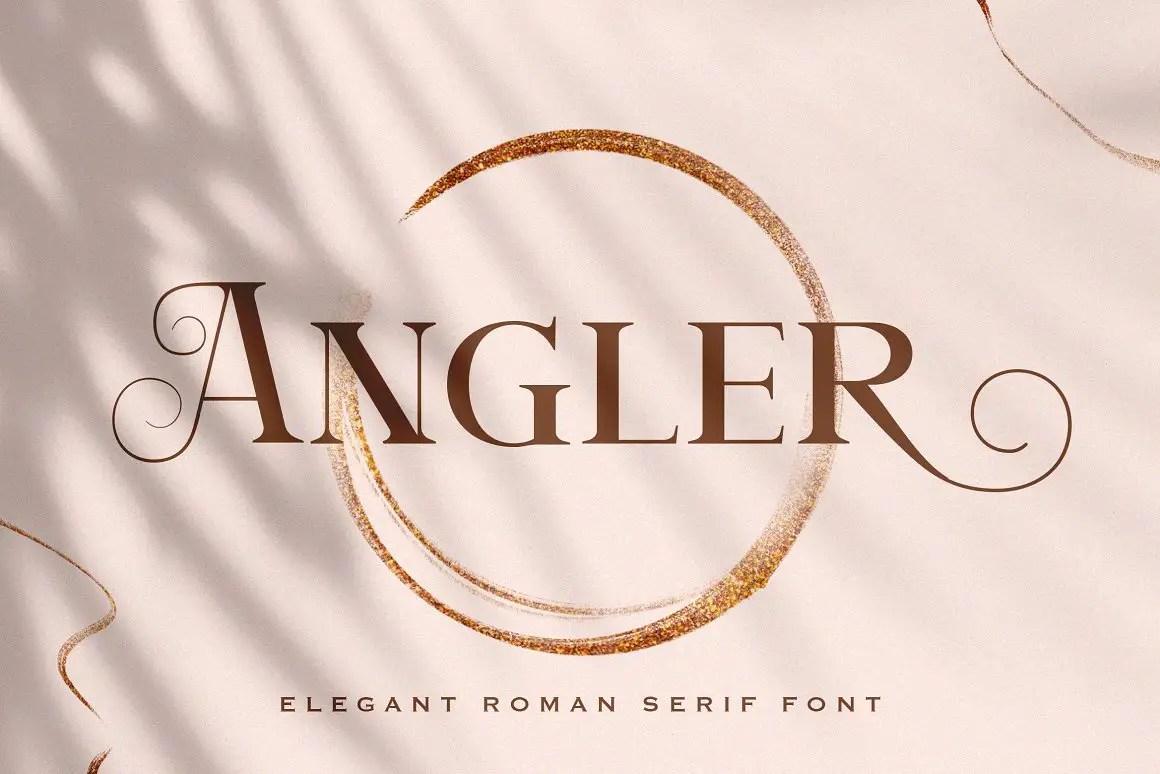 Angler Roman Serif Font -1