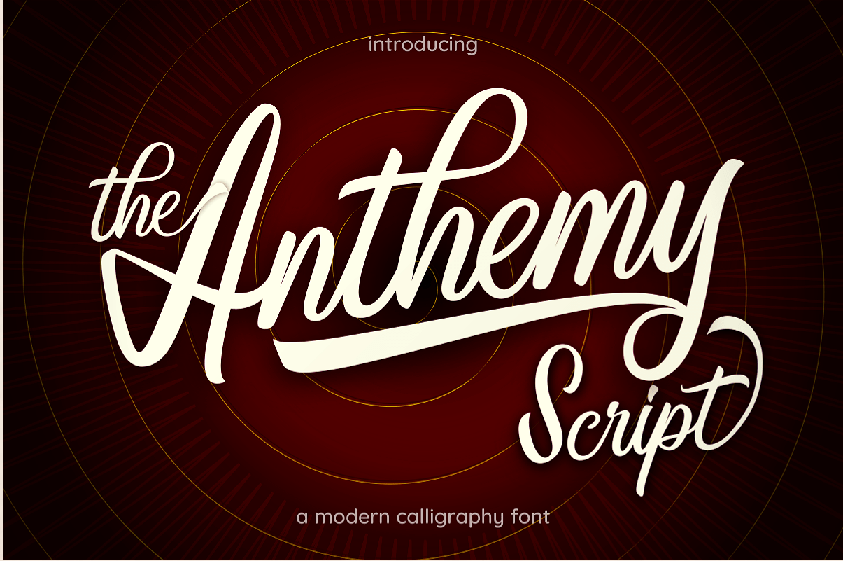 Anthemy Modern Calligraphy Font -1