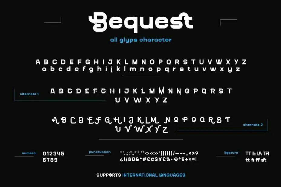 Bequest Sans Serif Font -3