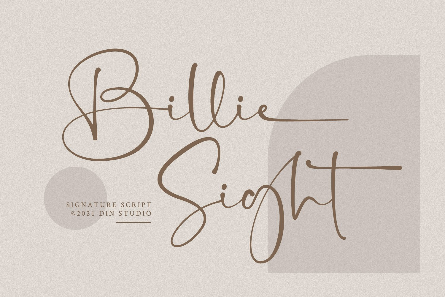 Billie Sight Signature Calligraphy Font -1