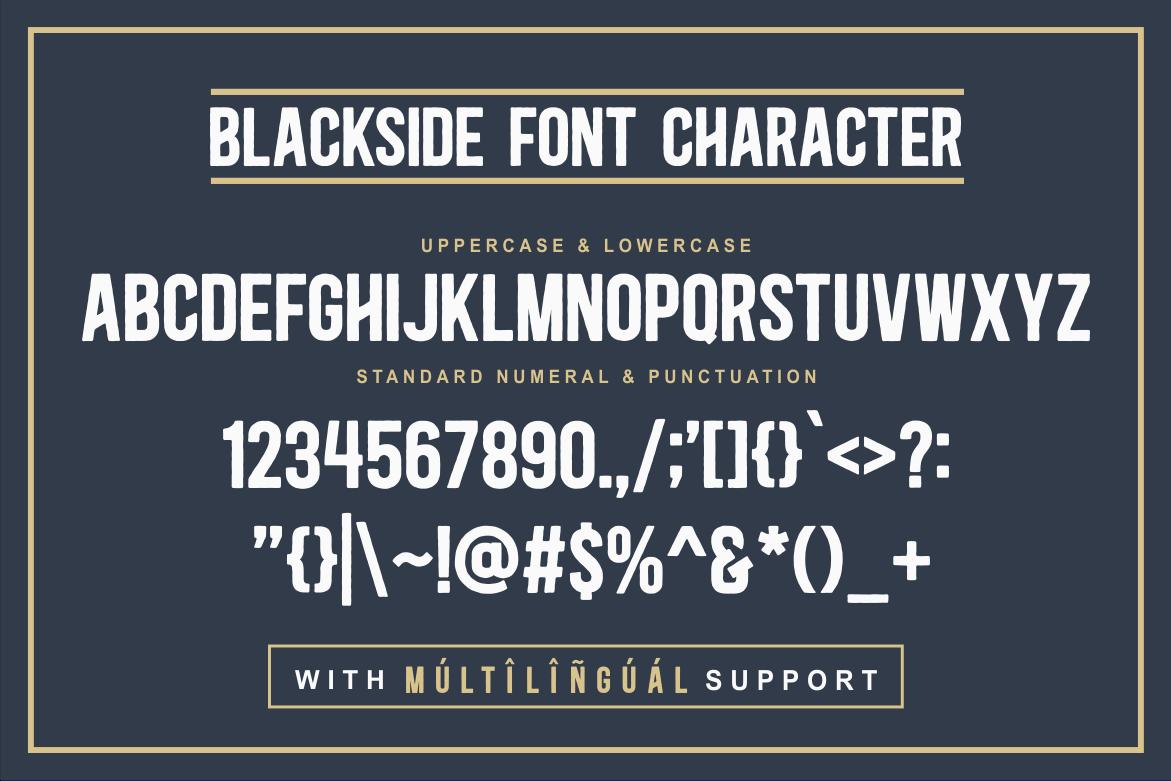 Blackside Font Family -3
