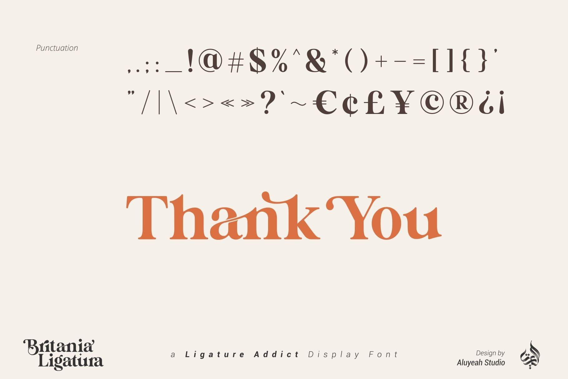 Britania Ligatura Serif Font -3