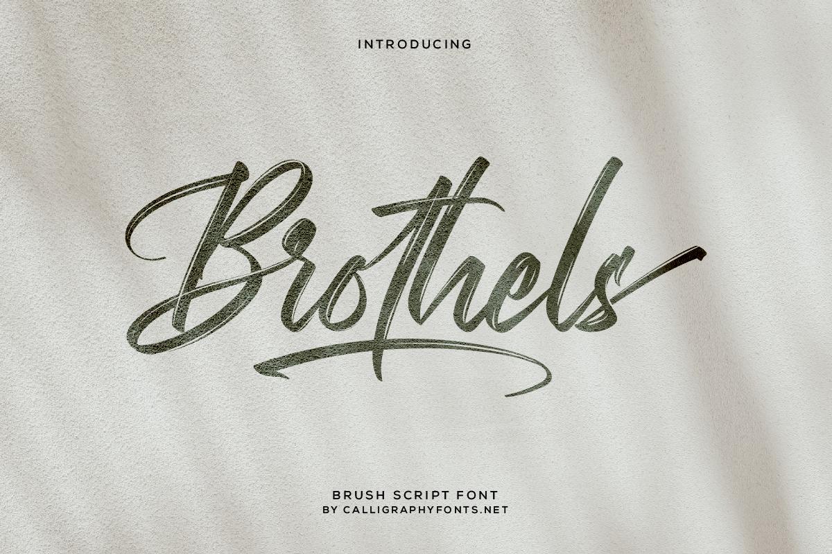 Brothels Brush Script Font -1