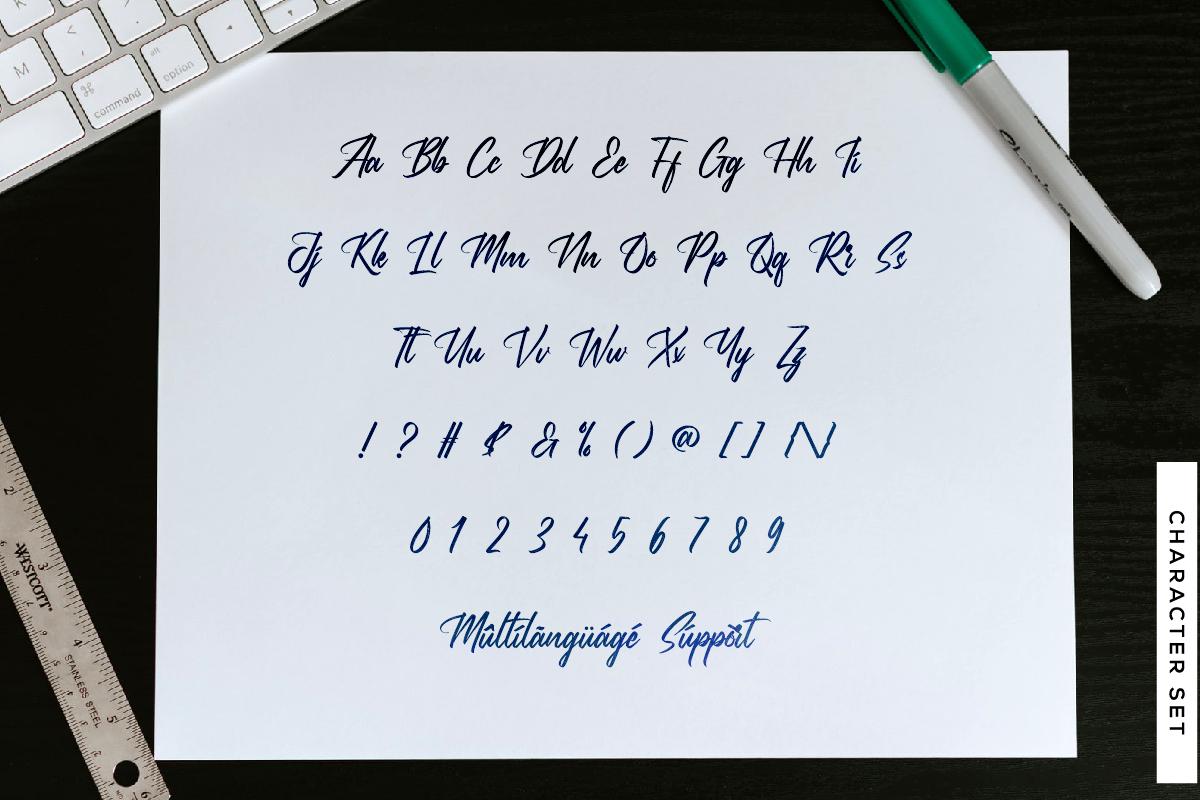 Brothels Brush Script Font -3