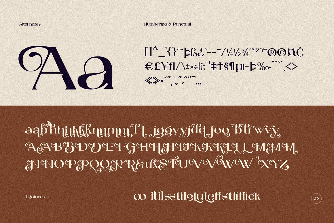 Catilde Modern Serif Font -3