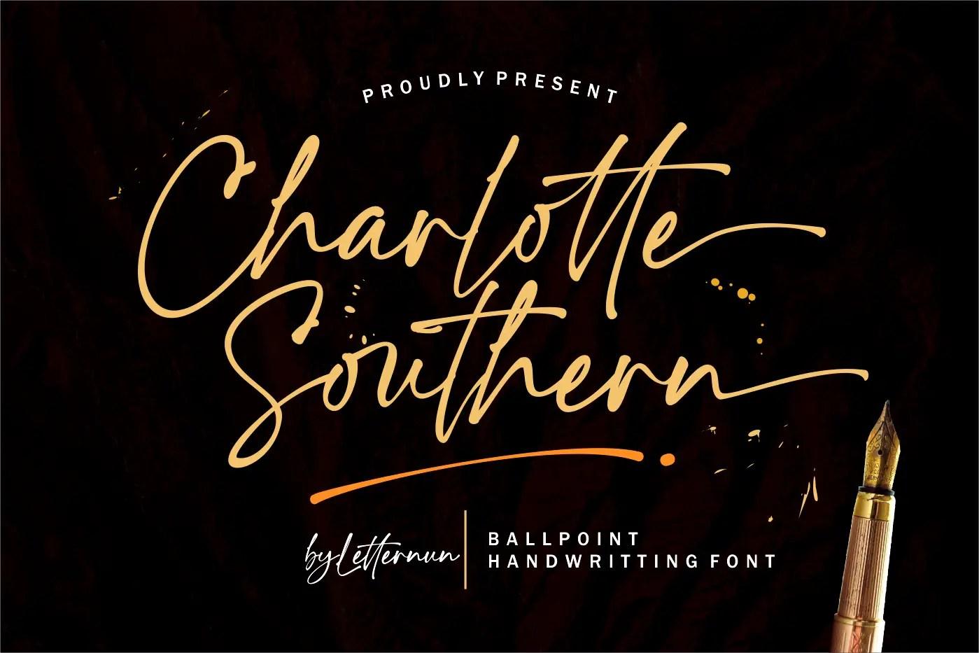 Charlotte Southern Handwritten Font -1