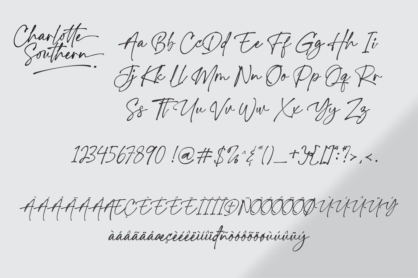 Charlotte Southern Handwritten Font -3