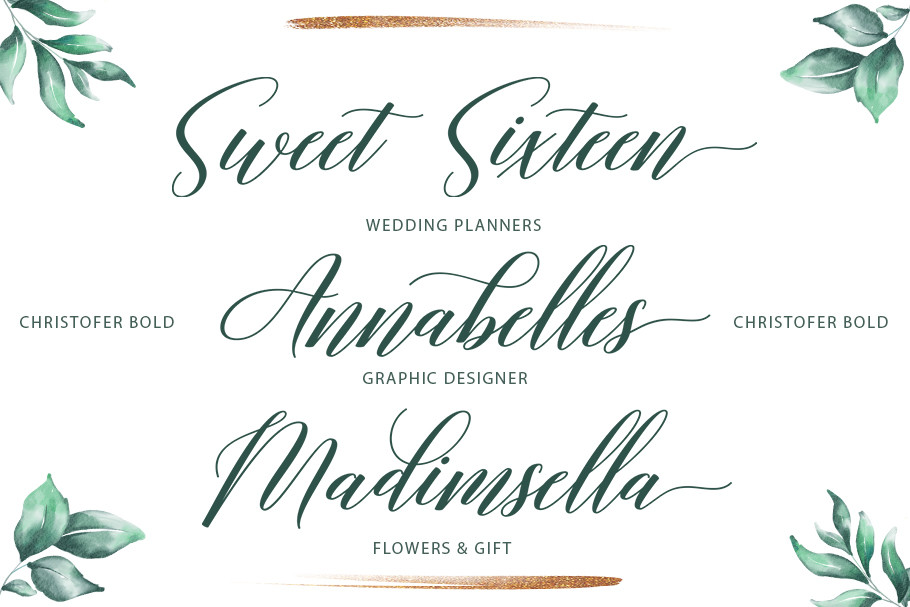 Christofer Modern Calligraphy Typeface -2